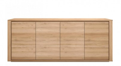 Oak Shadow Sideboard 4 Door