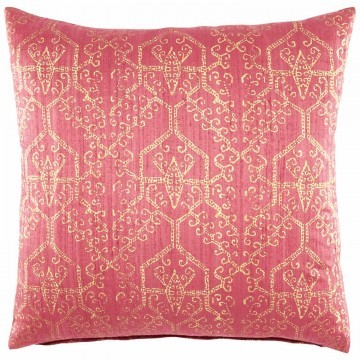 Cranberry Dupioni Decorative Pillow