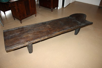 Senufo Daybed Carved One Piece Of Wood African Daybed