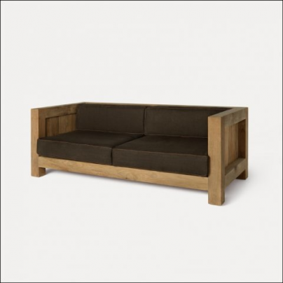 Double Square Outdoor Sofa