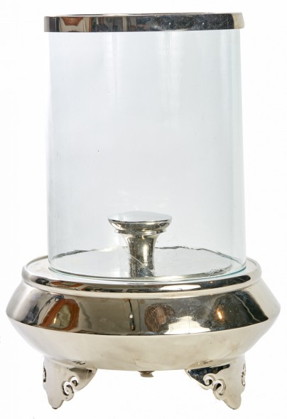 Dynasty Nickel Candle Holder Hurriance