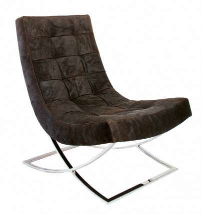 William Leather Lounge Chair