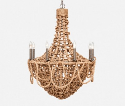 Woven Abaca Rope Chandelier