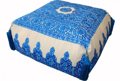 Embroidered Moroccan Poufs