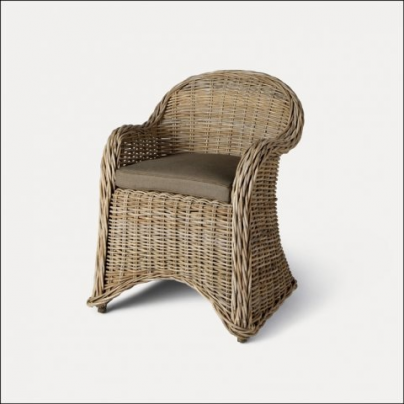 Roma Rattan Chair with Cushion