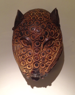 Bronze Benin Cat Mask