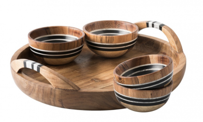 Stonewood Stripe 5pc Appetizer Set: