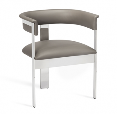 Macy Dining Chair - Grey / Nickel