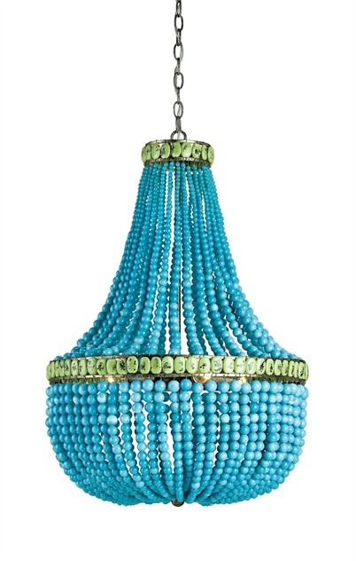 Hedy chandelier white beads ceiling lighting miami chandeliers hedy chandelier turquoise aloadofball Gallery
