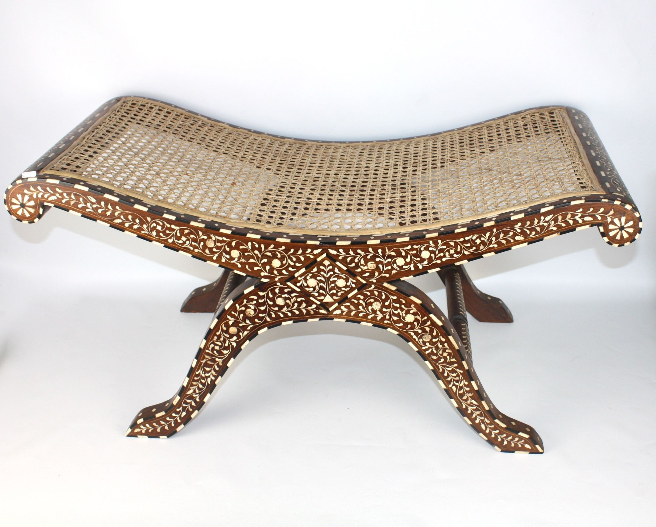 Bone Inlay Stool U003e