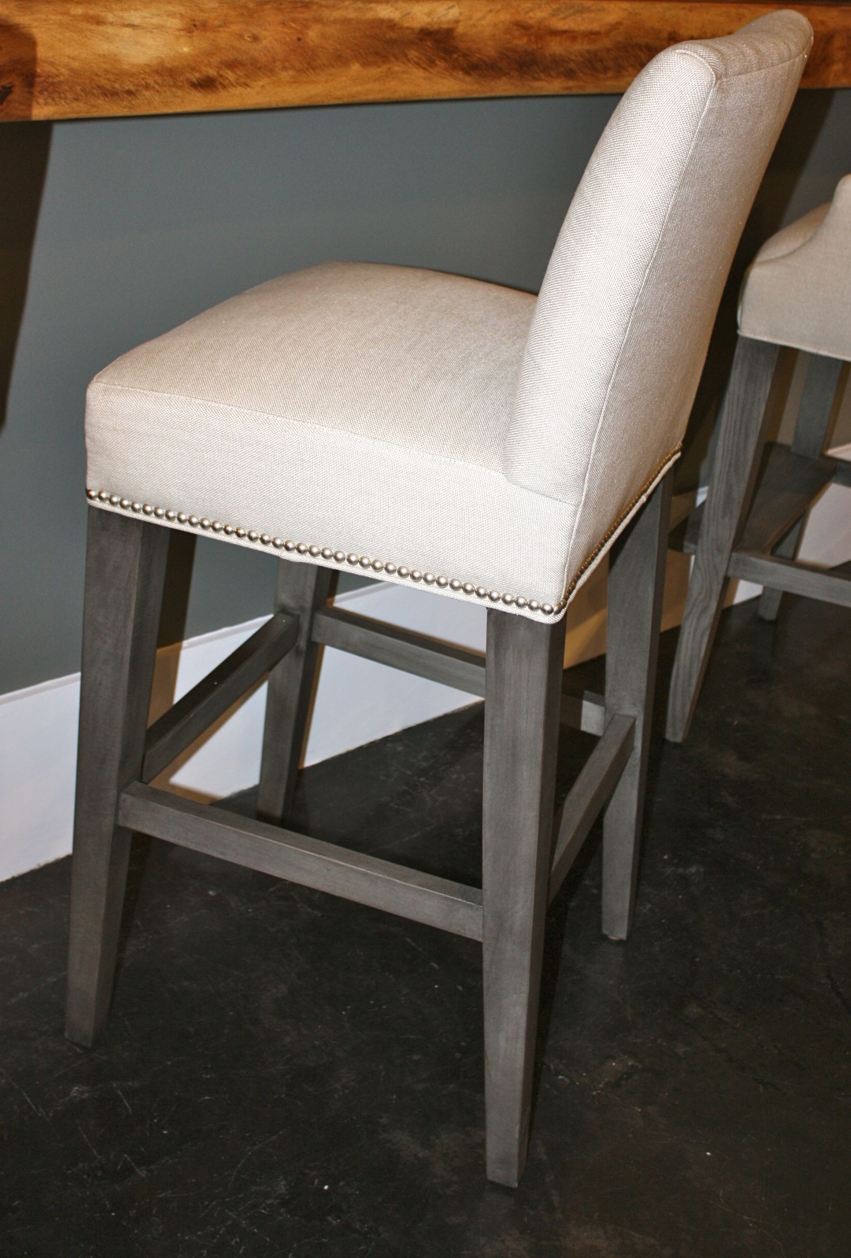 Grey Leather Counter Stool Home Ideas