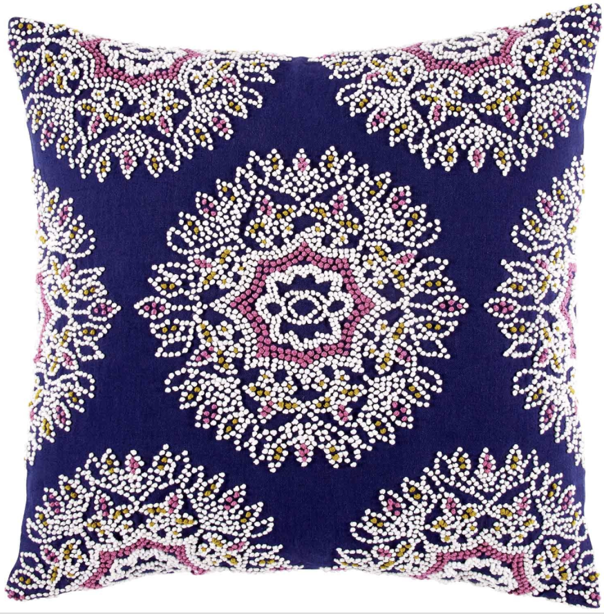 How To Make A Decorative Pillow By Hand : Hand knotted decorative pillow