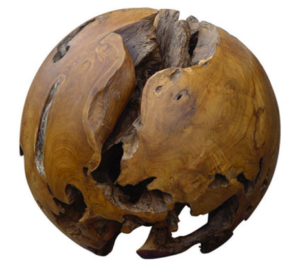 Teak Ball Sphere Indonesian Exotic Woods Teak Home Decor