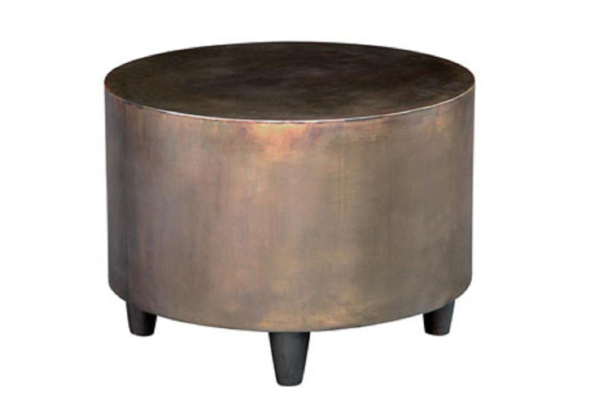 Bruno Cocktail Table Metal Drum Table Welded Edge