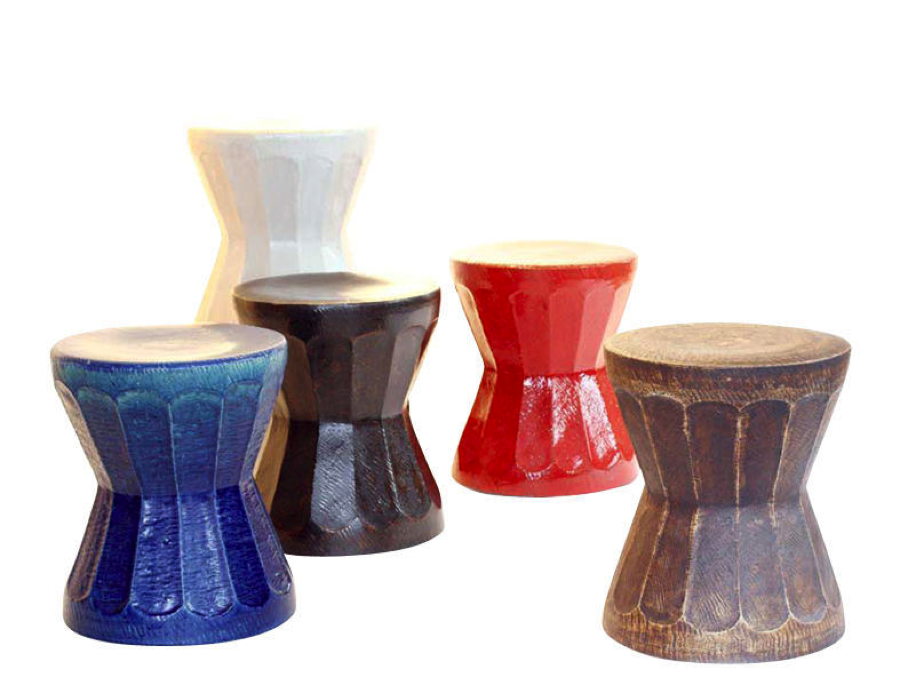 Porcelain Mortar Stool / Side Table u003e  sc 1 st  Jalan Jalan Miami & Porcelain Mortar Ceramic Stool - Side Table - Colors islam-shia.org