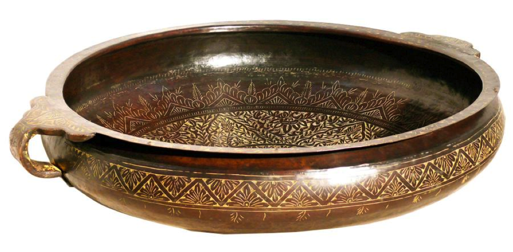 Brass Bidri Urli Handmade Detail Indian Home Decor