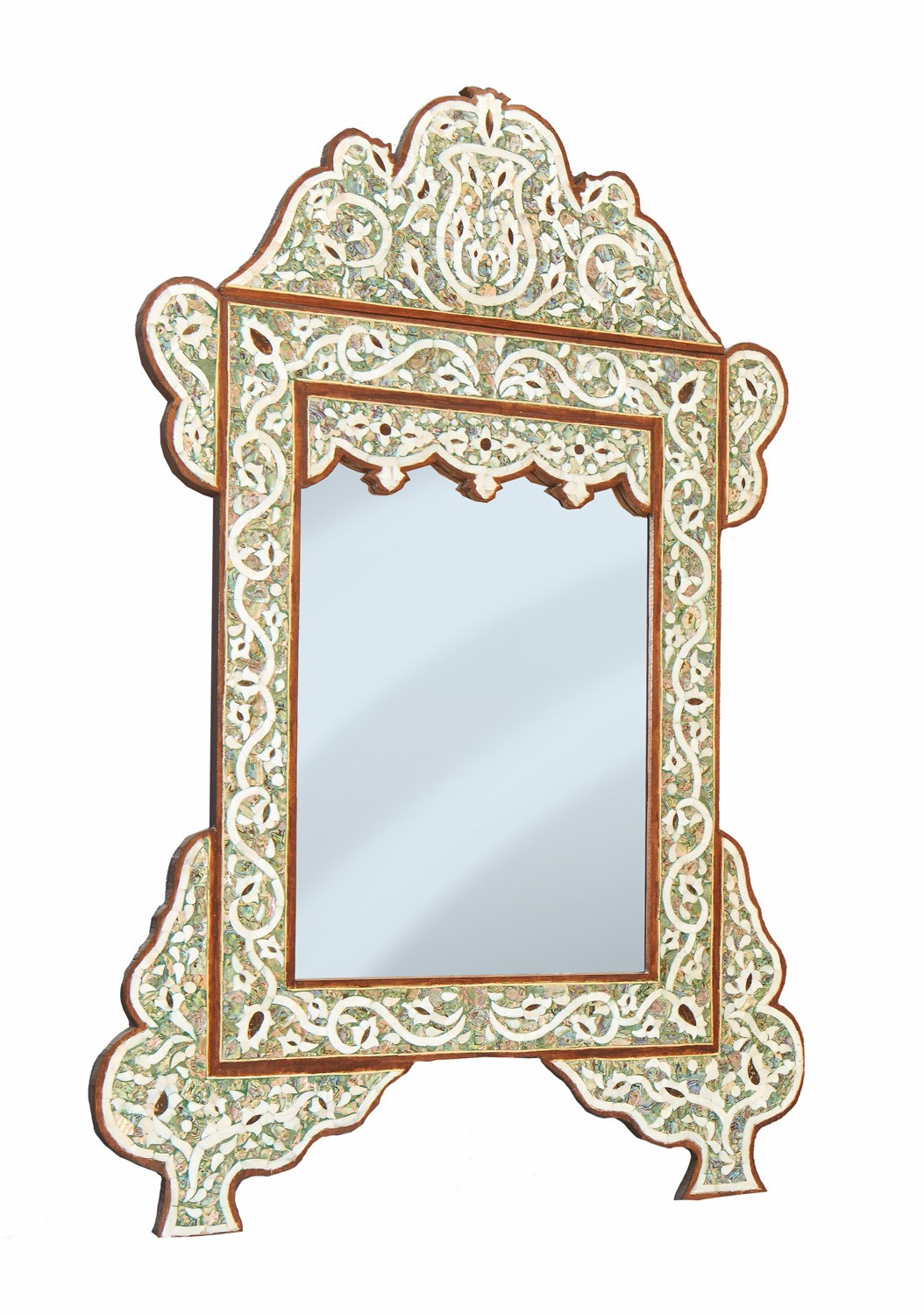 Green Mother Of Pearl Mirrors Moroccan Mirror