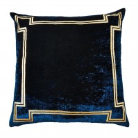 Blue Velvet Decorative Pillow