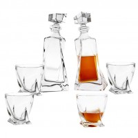 Sapphire Crystal Decanter Set