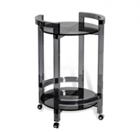 Smoke Acrylic Bar Cart