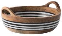Stonewood Stripe Round Serving Bowl