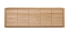 Oak Shadow Sideboard 5 Door