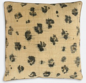 Spots Ikat Handpainted Pillow