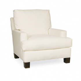 Chair in Starnes White Fabric