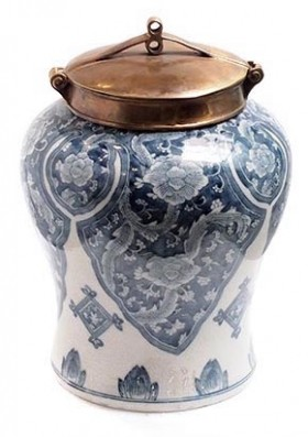 Blue and White Condiment Pot - Small
