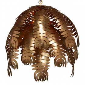 Palm Chandelier - Rose Gold