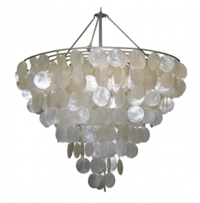 Serena Chandelier – Large White Shells