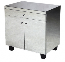 Eva Mirrored Bedside Table