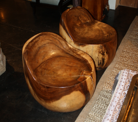 Suar Wood Bean Chair