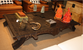 Vintage Ox Cart Table
