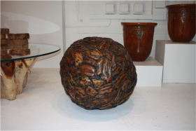 Patchwork Driftwood Accent Sphere