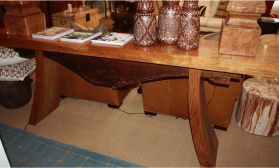 Teak Console with Antique Beam