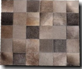 Square Patchwork Hide Rug