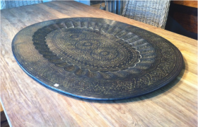 Etched Indian Brass Tray