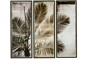 Three Panel Palm Majestic