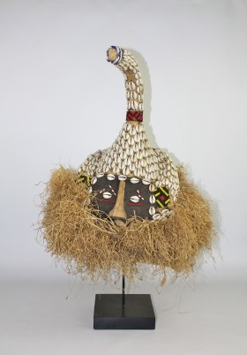 Kuba Mask with Cowry Shells