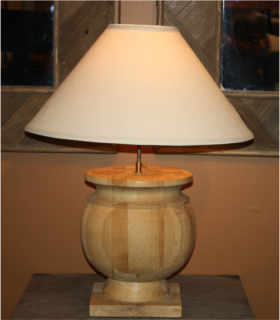 Roger Natural Wood Lamp