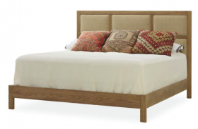 Oak & Linen Bed - King