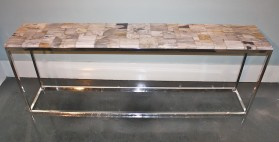 Petrified Wood Console Table