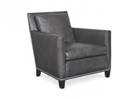 Manhattan Pewter Leather Chair