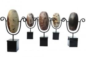 Lingam Stones on Stand