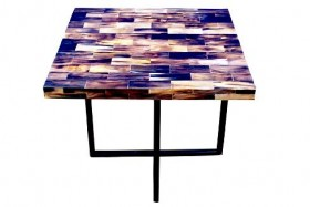 Buffalo Horn Side Table - Square