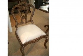Flower Chair - Bone Inlay