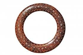 Bone Inlay Round Mirror