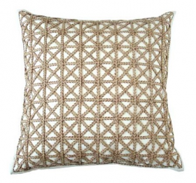 "Lattice Overlay Throw Pillow - 24""SQ"