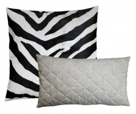 Safari Pillow - Zebra Print on Hide